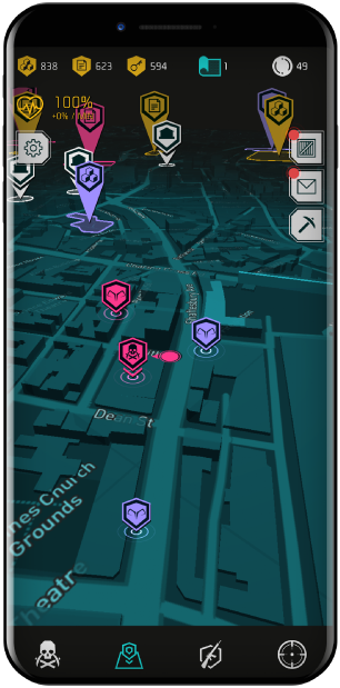 Navigate a 3D map phone