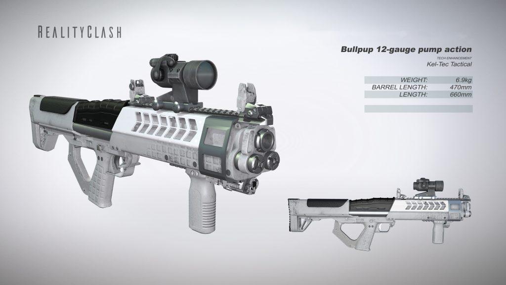 Bullpup 12-gauge pump action